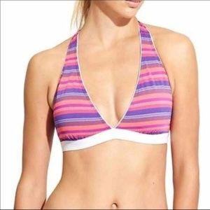 Athleta Tulum Striped Bikini Swimsuit Top